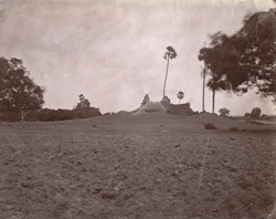 General view from a distance of the ruined temple, Deo Markanda